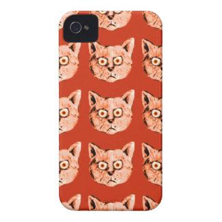 roligt mönstra för katt iPhone 4 skydd