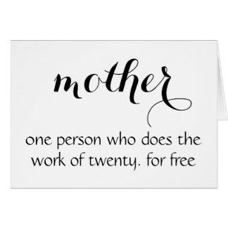 Roligt mors dagkort - hälsningskort