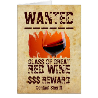 Roligt önskade rött vinhälsningkortet! hälsningskort
