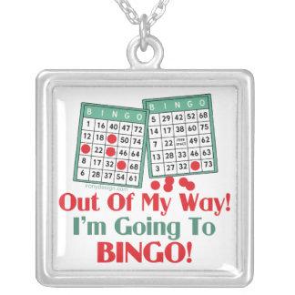 Roligt ordstäv för Bingo Silverpläterat Halsband