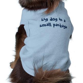 """Roligt ordstäv """"stor hund i ett litet paket """", husdjurströja"""