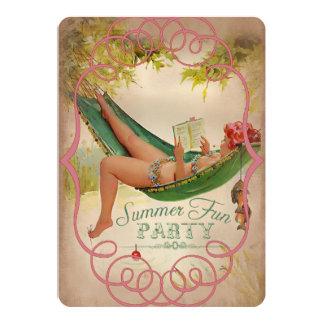 Roligt party för sommar II - inbjudankort 12,7 X 17,8 Cm Inbjudningskort