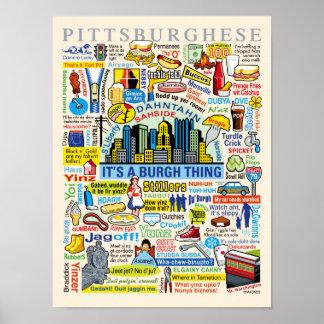 Roligt Pittsburghese för Pittsburgh språk konstver Poster