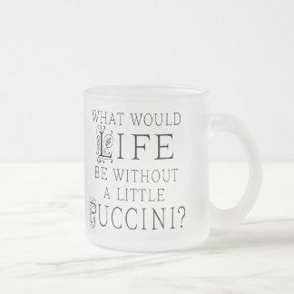 Roligt Puccini musikcitationstecken Frostad Glas Mugg