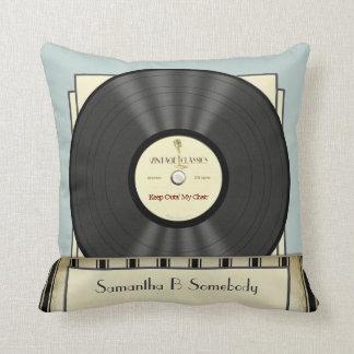 Roligt Retro rekord för vintageklassikervinyl Kudde