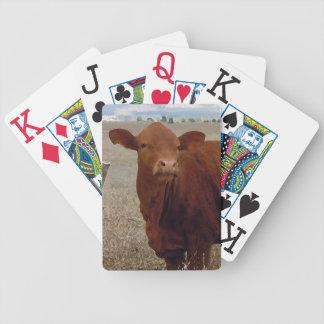 Roligt rött westernt koansiktenötkreatur spelkort