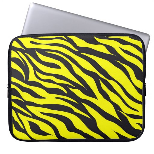 Roligt sätta en klocka på djurt tryck för gul zebr datorskydd
