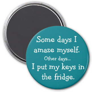 Roligt satte jag min nycklar i kylrundamagneten magnet