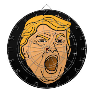 Roligt skrika ilsket Donald Trump ansikte Darttavla