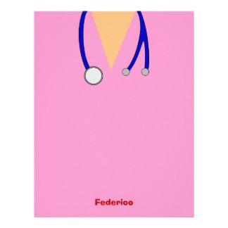 Roligt skurar nyckfull design för sjuksköterskor brevhuvud