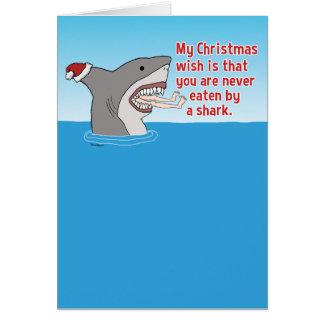 Roligt som ätas av hajjul hälsningskort