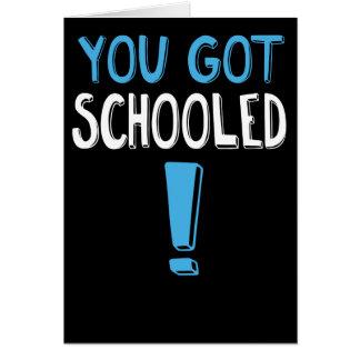 Roligt studentenkort: Du fick skolad! Hälsningskort