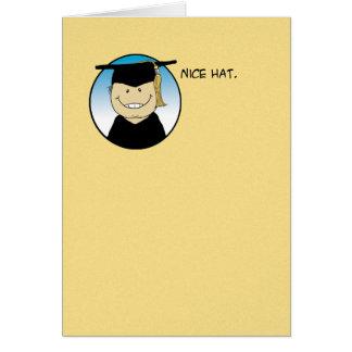 Roligt studentenkort: Trevlig hatt Hälsningskort