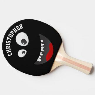 Roligt svart läskigt namn för pingisracket