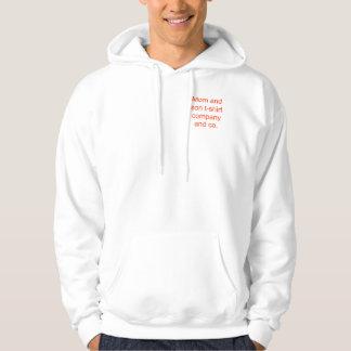 Roligt t-skjorta för mamma och för son företag sweatshirt med luva