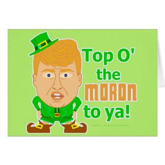 Roligt troll 2016 för Donald Trump St Patricks Hälsningskort