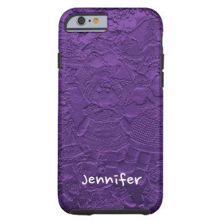 Roligt ungdomligt förtjusande purpurfärgat tough iPhone 6 fodral