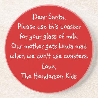 Roligt ungebrev till Santa som använder hans Underlägg