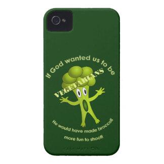 Roligt vegetariskt citationsteckenblackberry iPhone 4 cover