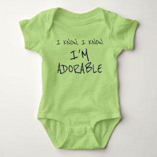 Roligt vet jag förtjusande barnkläder för t-shirt