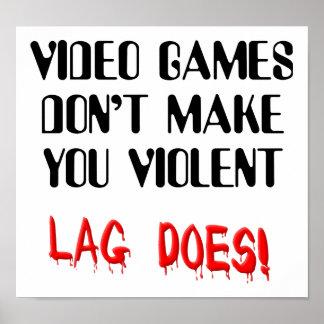 Roligt videospelfängelsekundTime våld undertecknar Poster