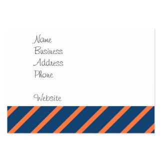Roligtcoolablått och orange diagonala randar visitkort