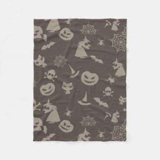 Roligtsvart & grå färgHalloween design Fleecefilt