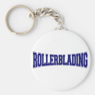 Rollerblading universitetenstil rund nyckelring