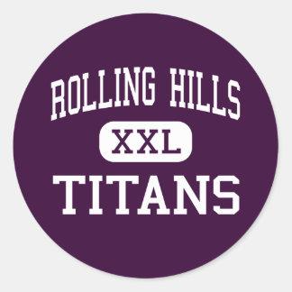 Rolling Hills - jättar - kick - Fairfield Runt Klistermärke