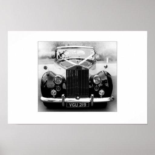 Rolls Royce bröllopbil Affisch