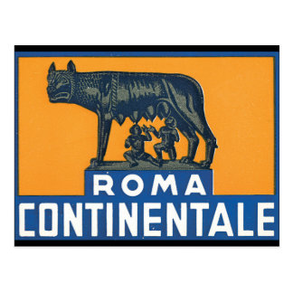 Roma Continentale_Vintage reser affischkonstverk Vykort