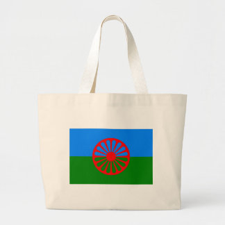 Roma flagga (den Romani flagga) Jumbo Tygkasse