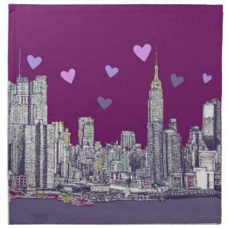 Romantik för New York bläcklilor Tygservett