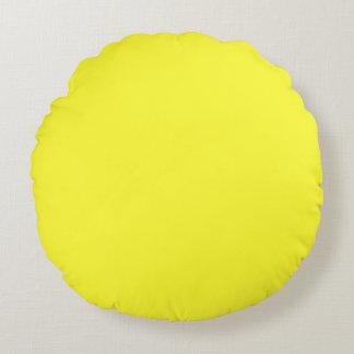 Romantik för syrlig gult för neon för Lanzarote Rund Kudde