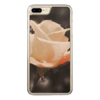 Romantiker steg blommor carved iPhone 7 plus skal