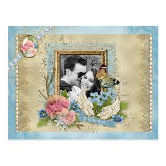 Romantisk fotospara datera vykort