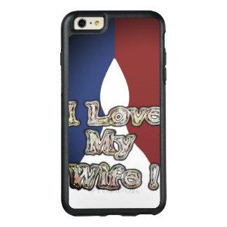 Romantisk fransk blåttmedborgarefärg älskar jag OtterBox iPhone 6/6s plus skal