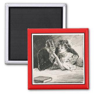Romantisk Gibson flicka och friaremagnet Magnet
