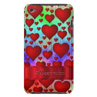 Romantisk hjärtamönsterpersonlig iPod touch hud