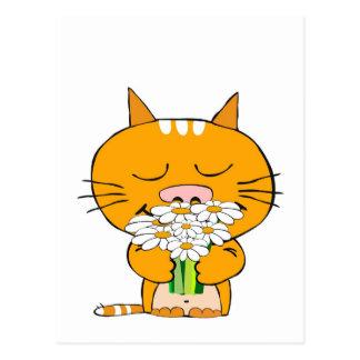 Romantisk katt vykort