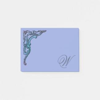 Romantisk pastellfärgad Steampunk Goth personlig Post-it Block