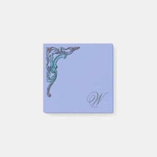 Romantisk pastellfärgad Steampunk Goth personlig Post-it Lappar