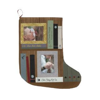 Romantisk personlig för hylla för bokälskarebok stor julstrumpa