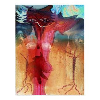 Romantisk räv vykort