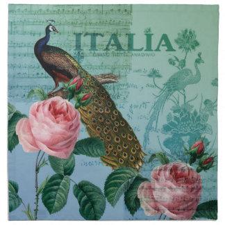 Romantisk romusikalpåfågel tygservett