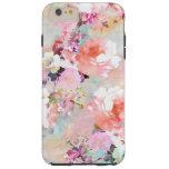 Romantisk rosa blommönster för tough iPhone 6 plus skal