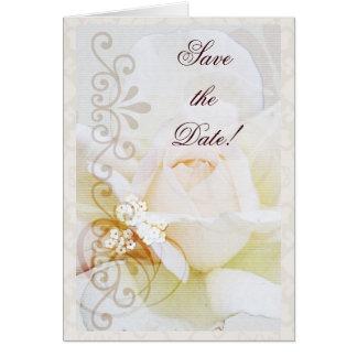 Romantisk spara daterakortet med text hälsningskort