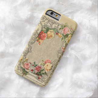 Romantisk vintage Sculpted ro Barely There iPhone 6 Skal