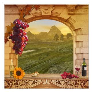 Romantisk vintagemålning för vingård bröllop fotografi