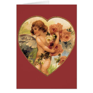 Romantisk vintagevalentines hälsningskort